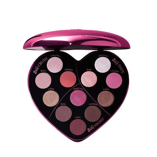 San Valentín maquillaje paleta ojos