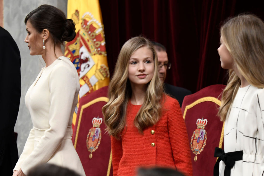 princesa Leonor infanta Sofía reina Letizia