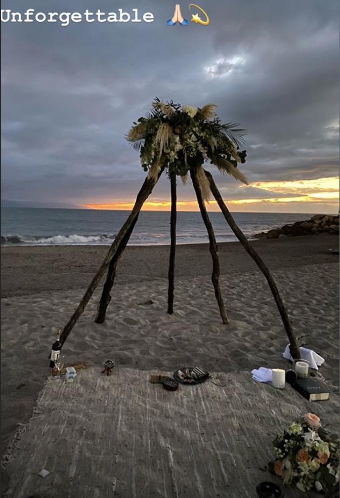 Sissi Fernández, playa de su boda