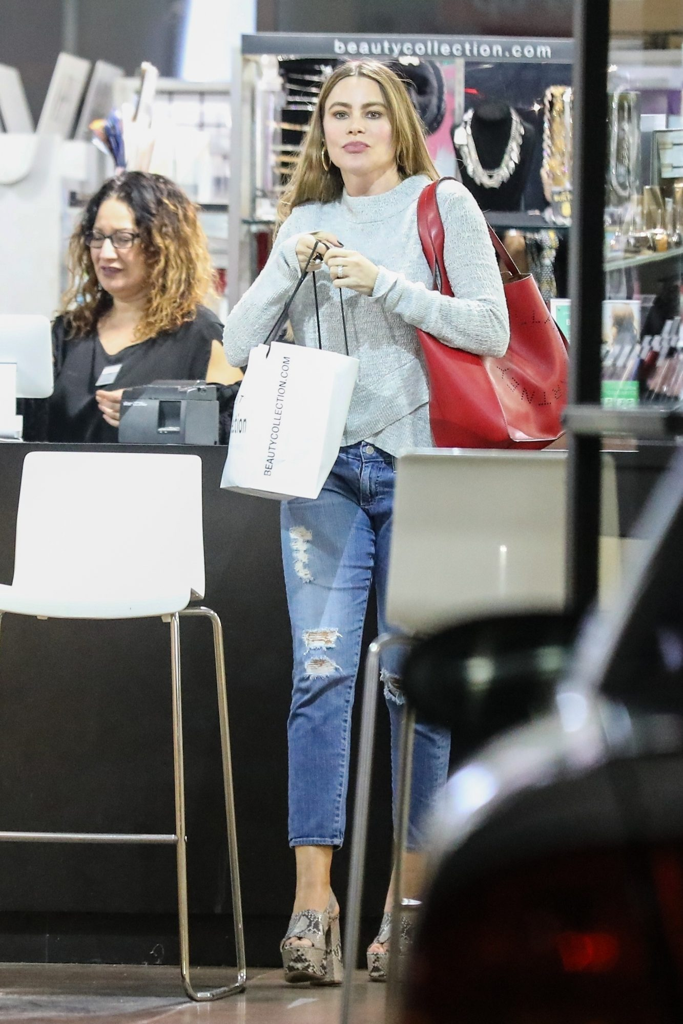 Sofia Vergara gets some shopping done at Beauty Collection store in West Hollywood