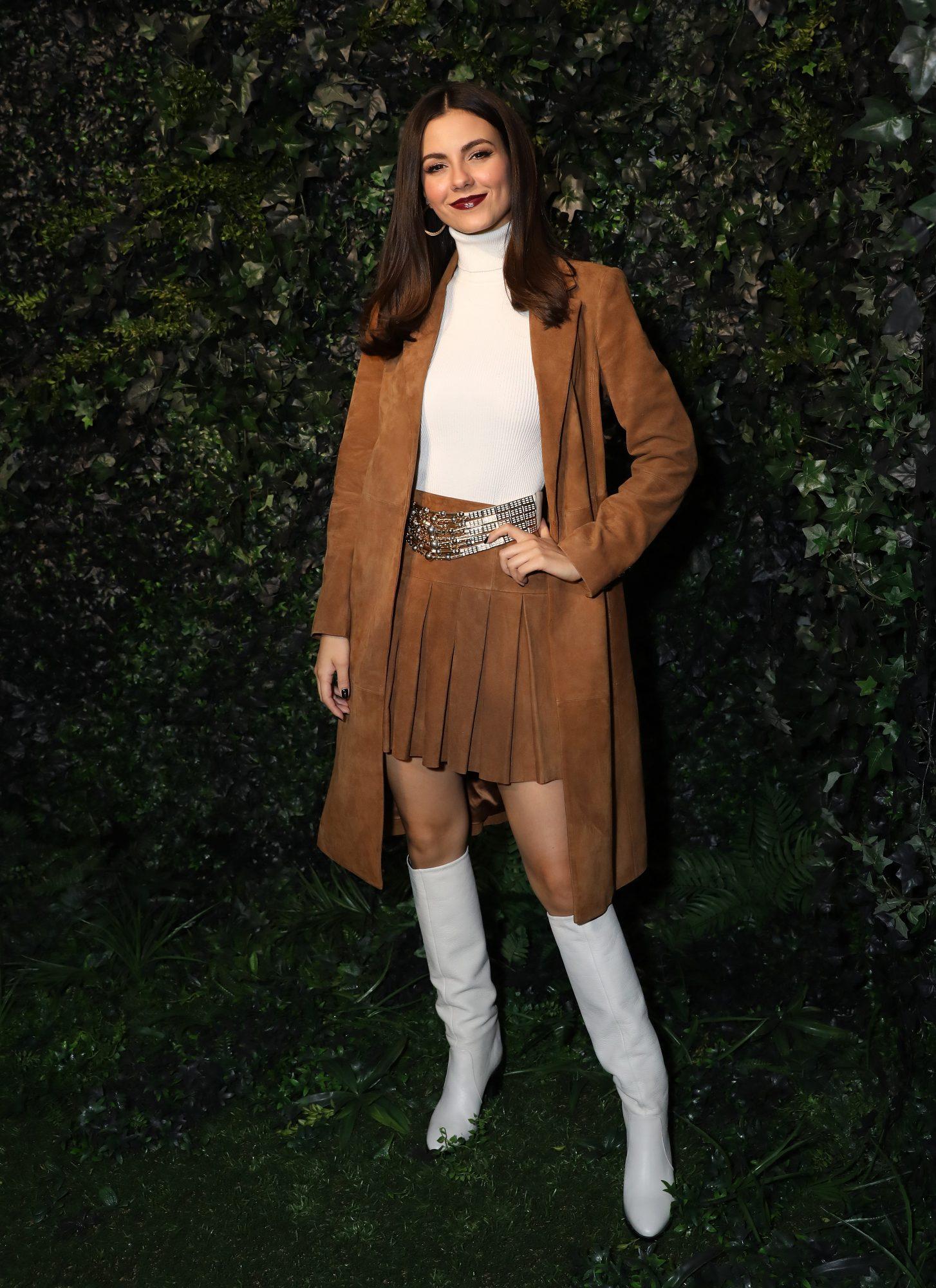 Victoria Justice, looks, semana de la moda de Nueva York