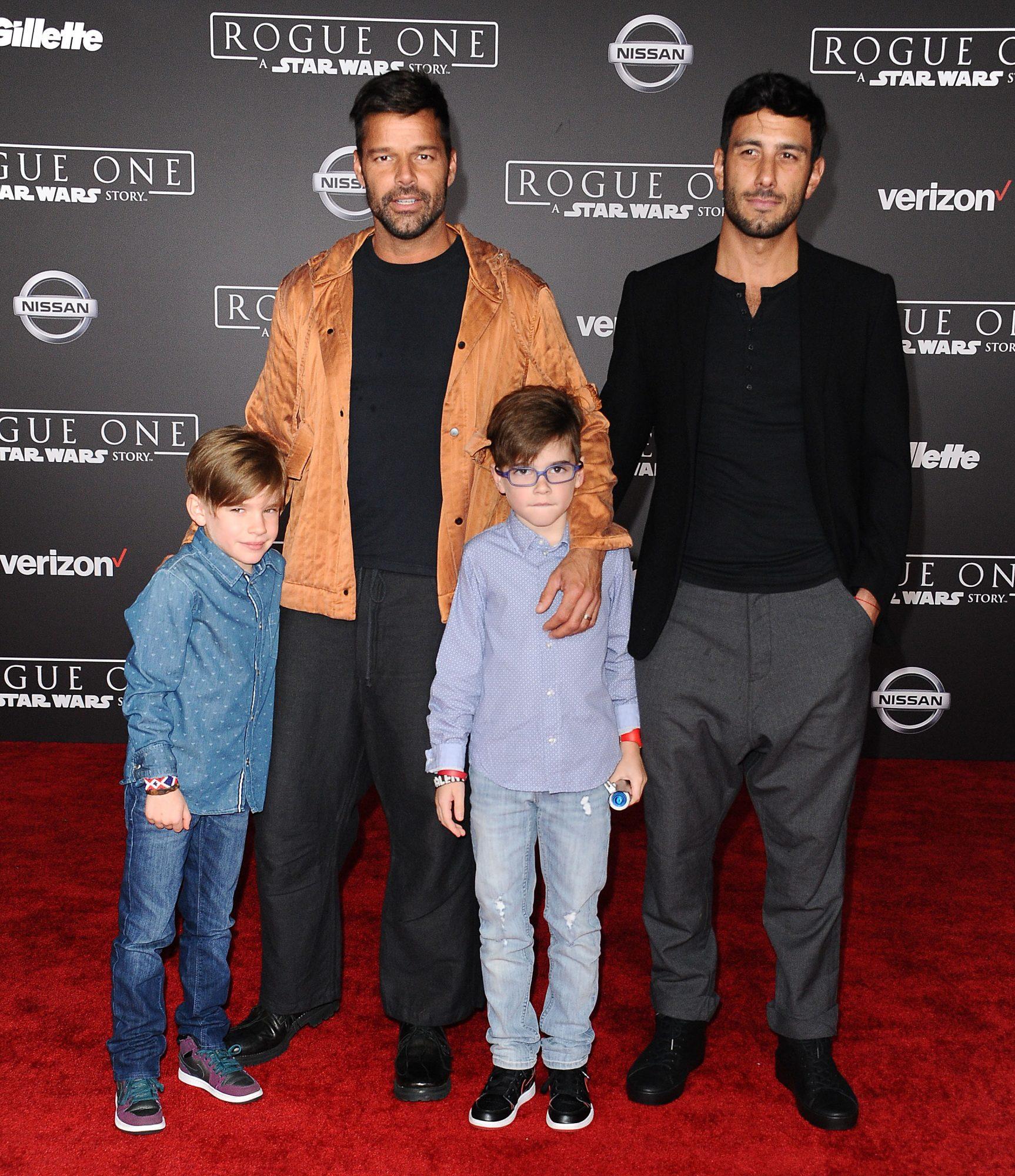 Ricky Martin y familia