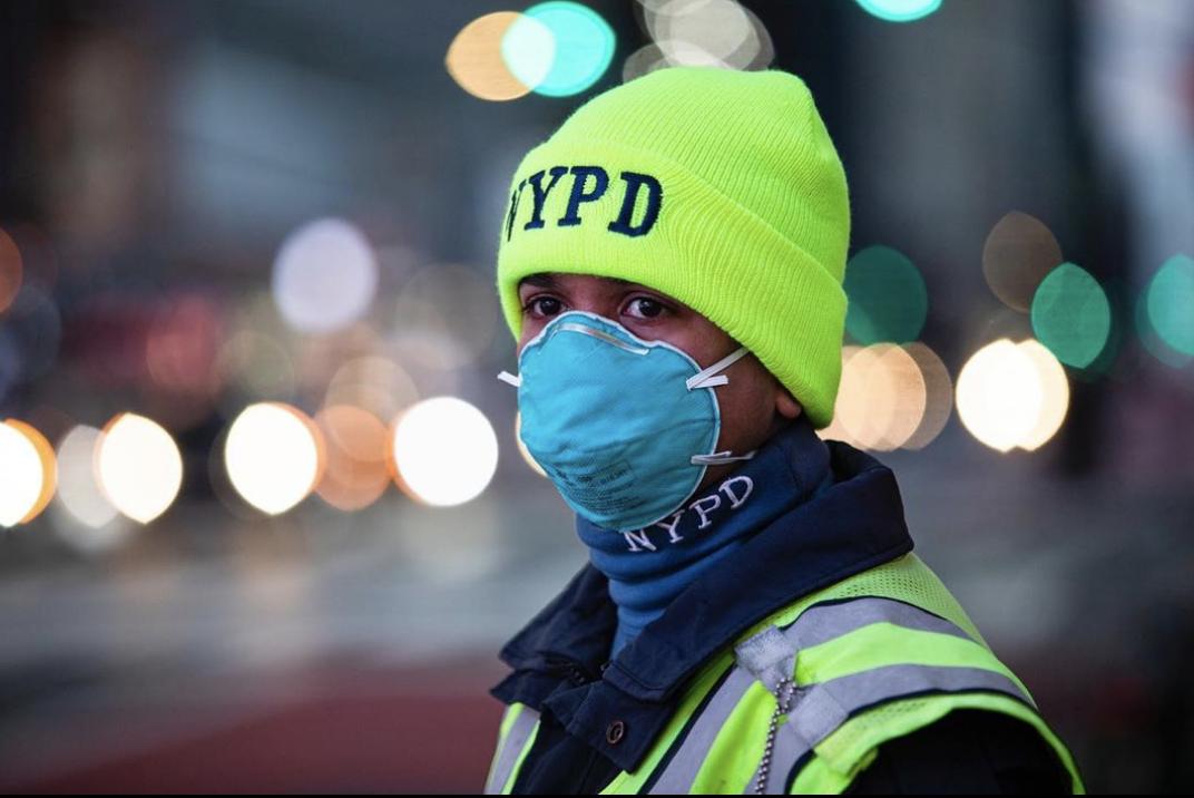 Policía en Times Square /Coronavirus