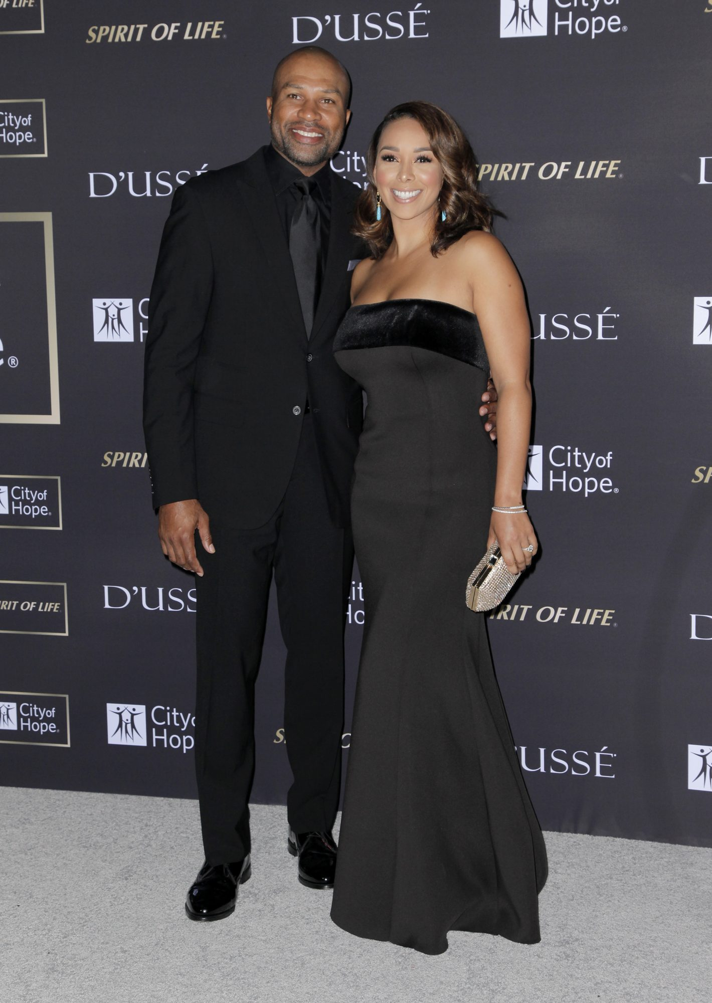 Derek Fisher y Gloria Govan