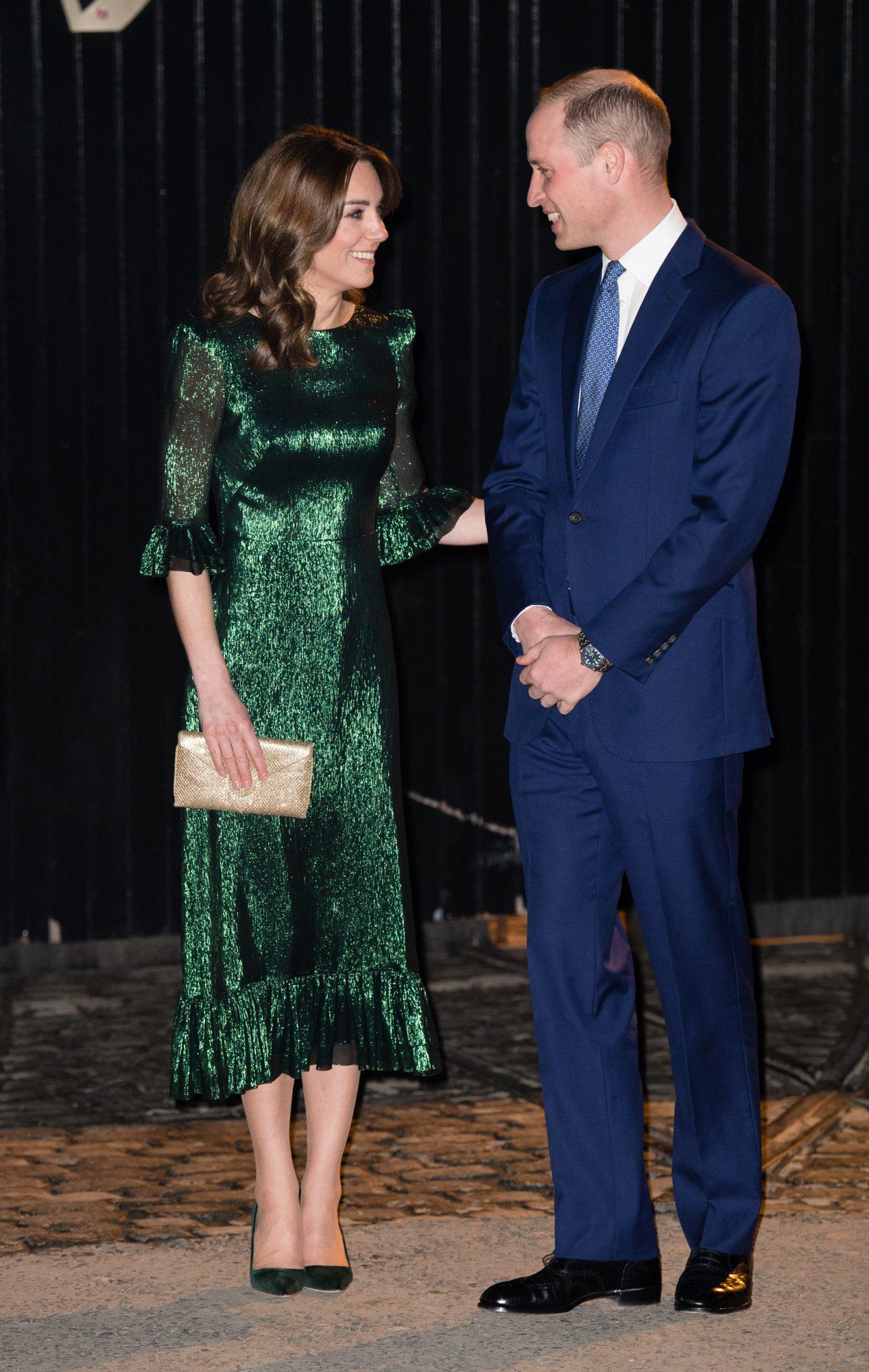 Kate Middleton, looks, vestido verde, lentejuelas, irlanda