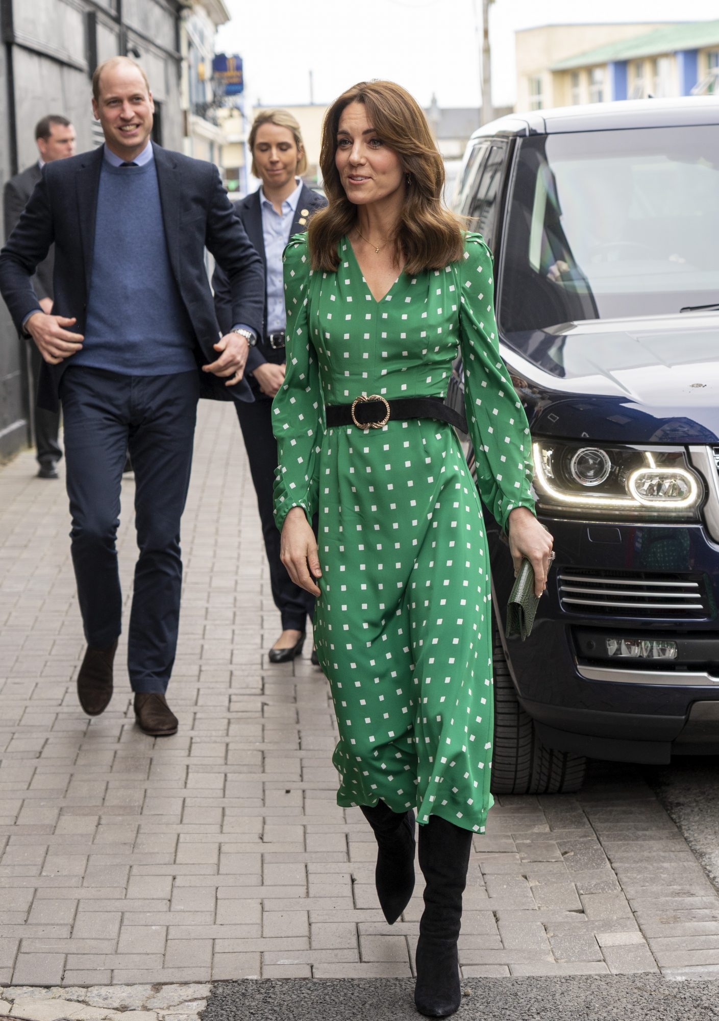 Kate Middleton, looks, mejores looks, londres vestido verde estampado