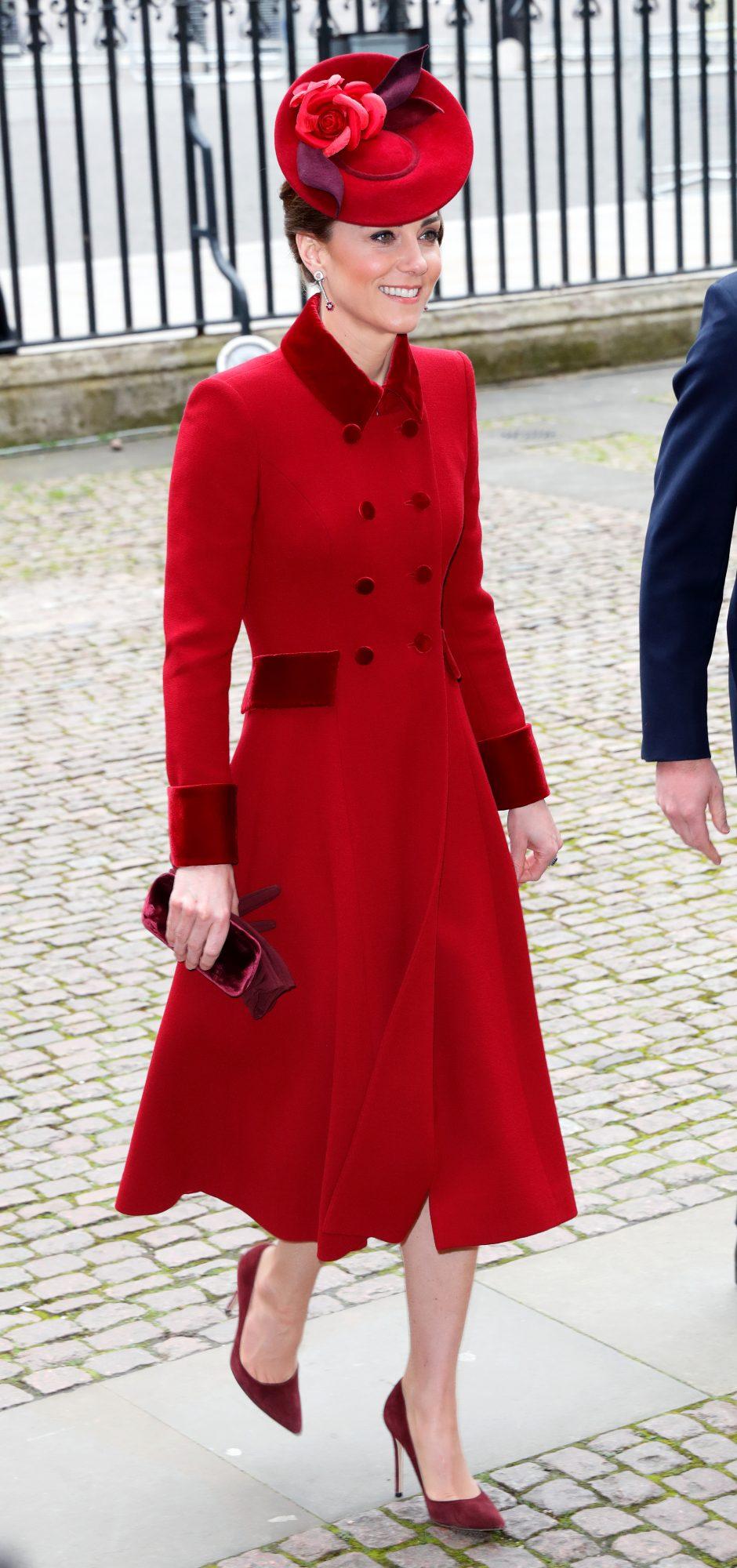 Kate Middleton, abrigo rojo, mejores looks, looks, londres
