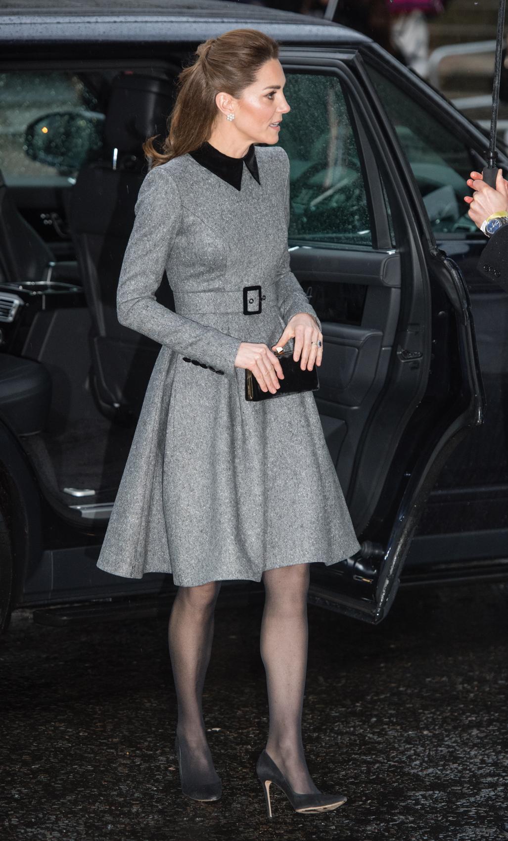 Kate Middleton, mejores looks, looks, vestido gris
