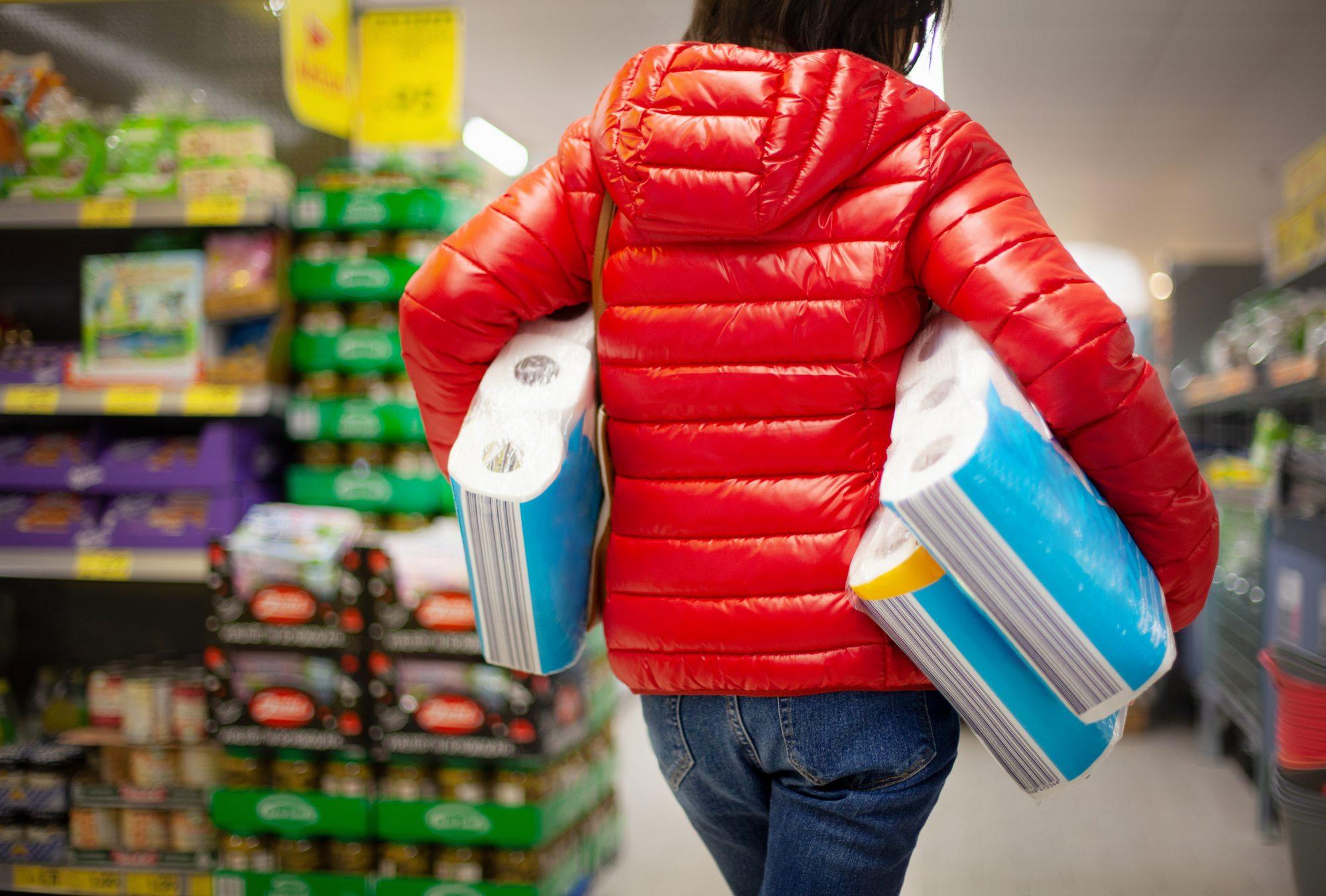 Coronavirus, compras, papel higiénico