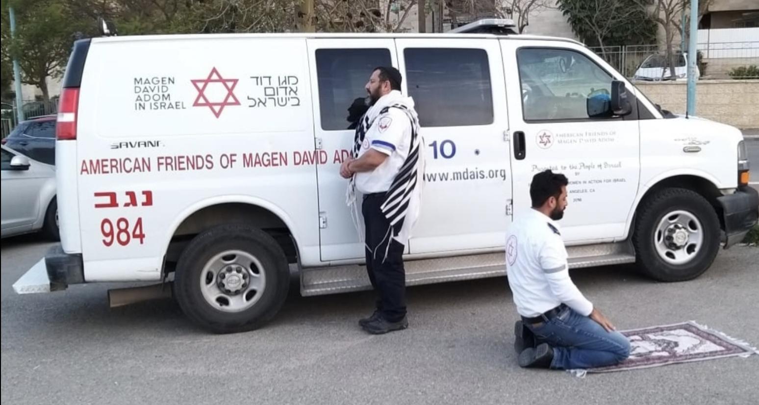 Paramédicos de Israel de Magen David Adom (MDA)