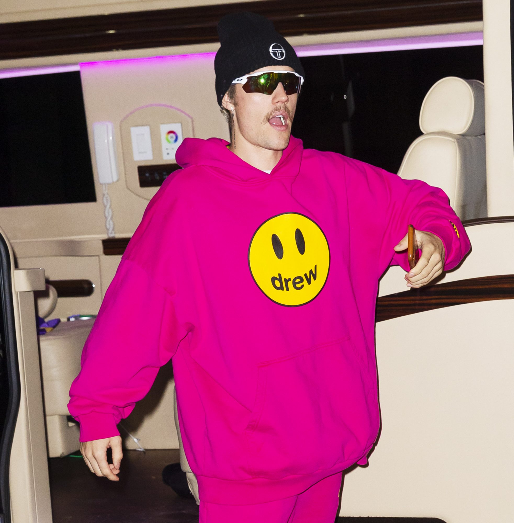 Justin Bieber is seen on February 06, 2020 in New York Cit