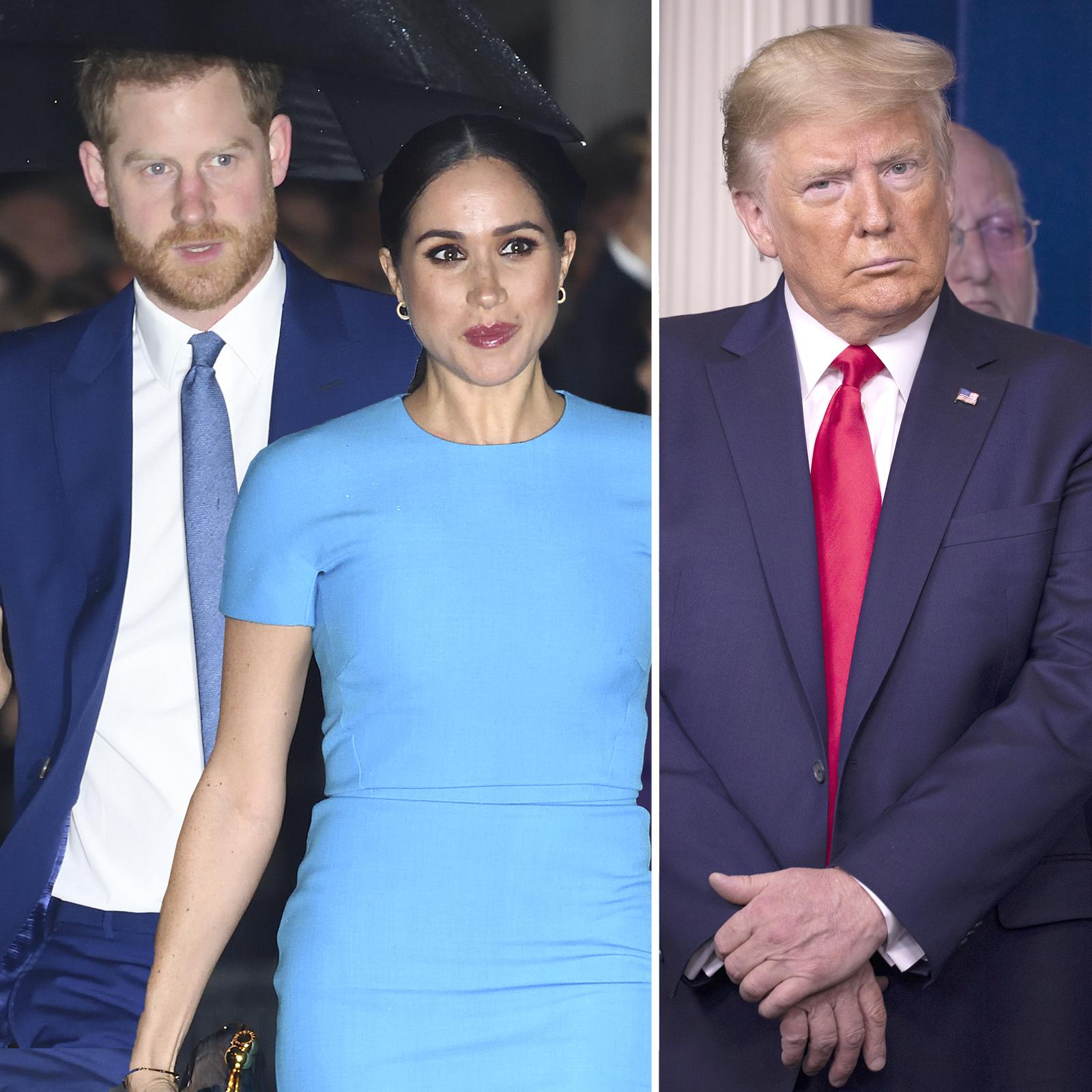 Harry, Meghan y Donald Trump