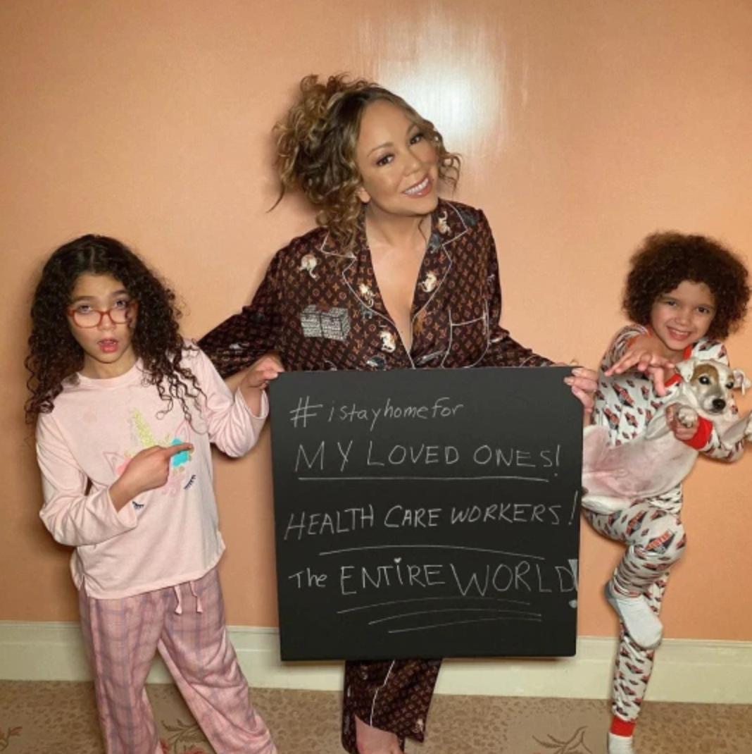Mariah Carey, MOroccan y Monroe, coronavirus