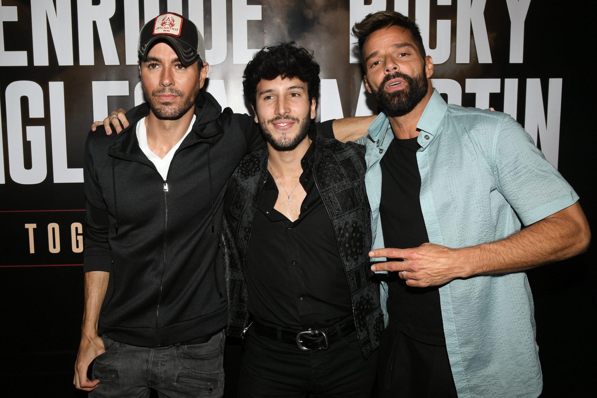 Enrique Iglesias, Ricky Martin and Sebastian Yatra