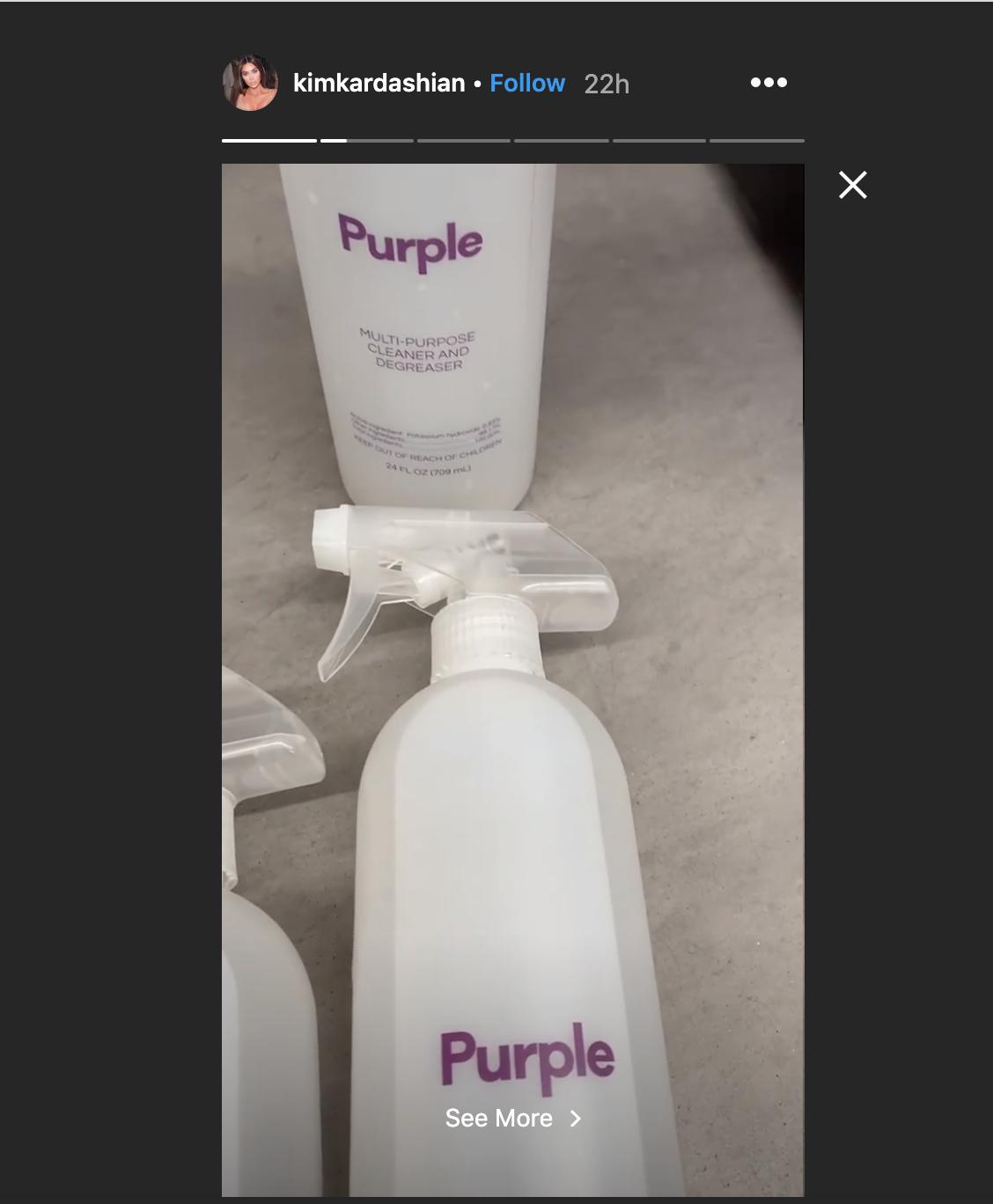 Kim Kardashian desinfectante