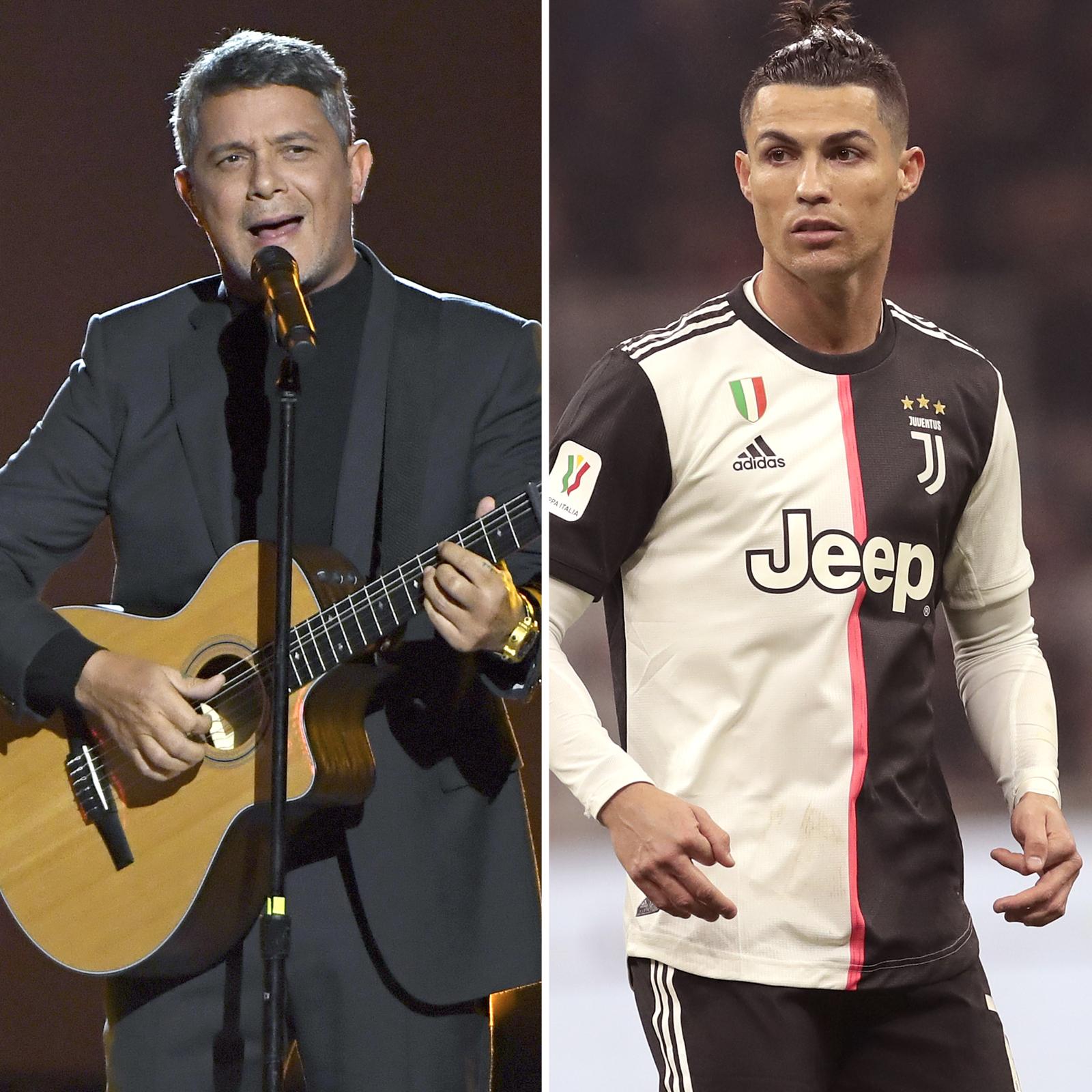 Alejandro Sanz y Cristiano Ronaldo