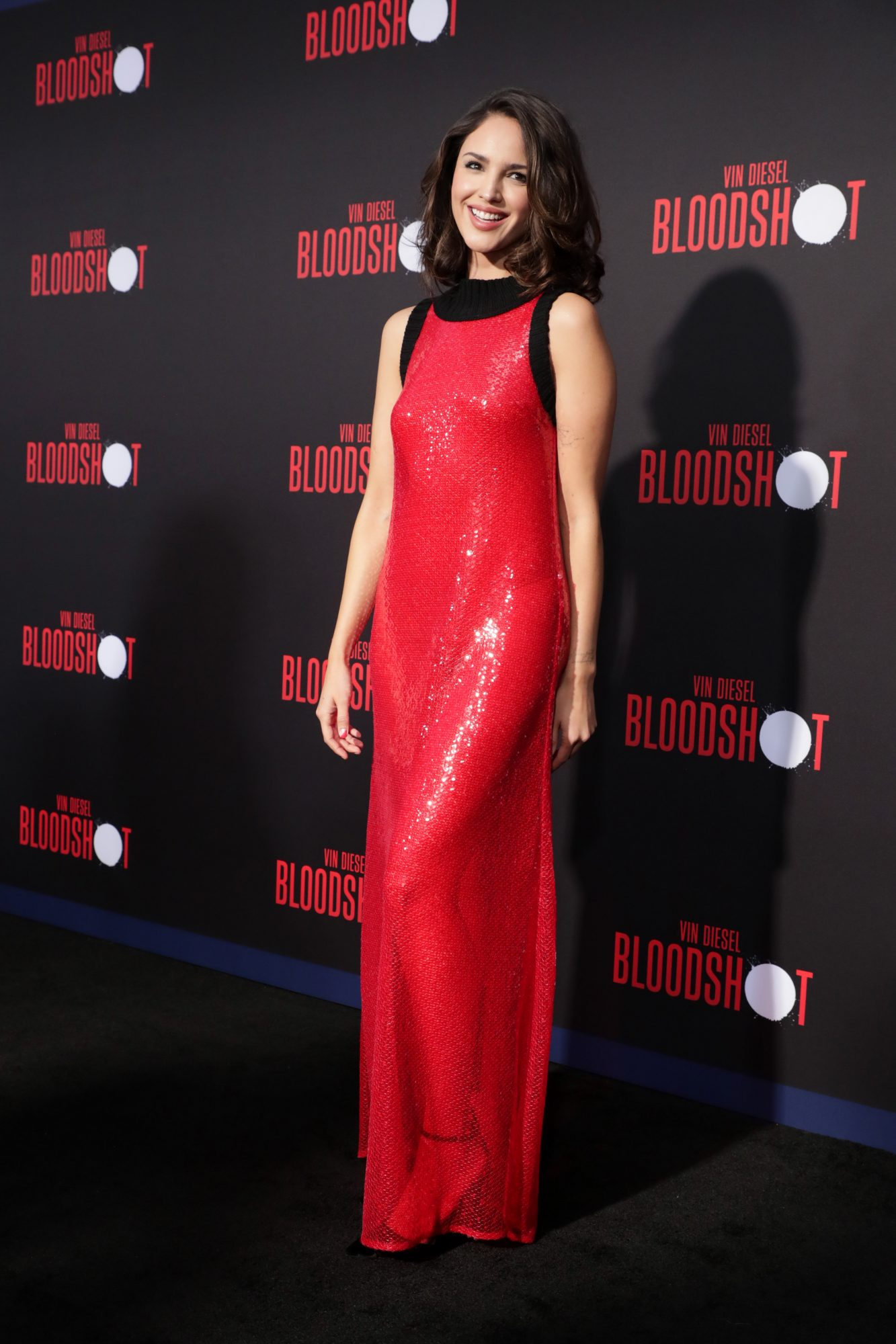 Eiza González at the World Premiere of Columbia Pictures' BLOODSHOT at The Village Regency.