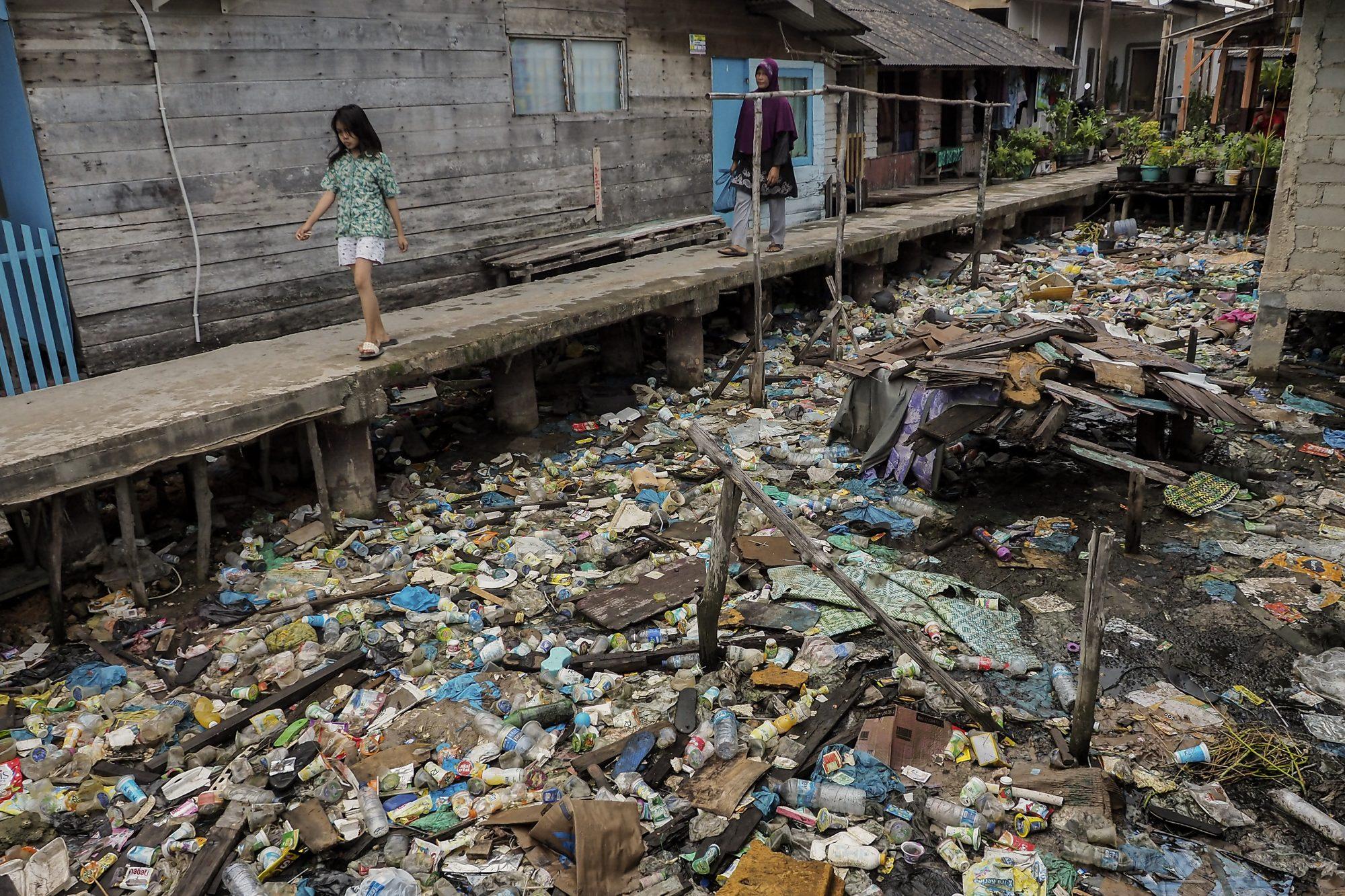 Plastic Trash In Riau