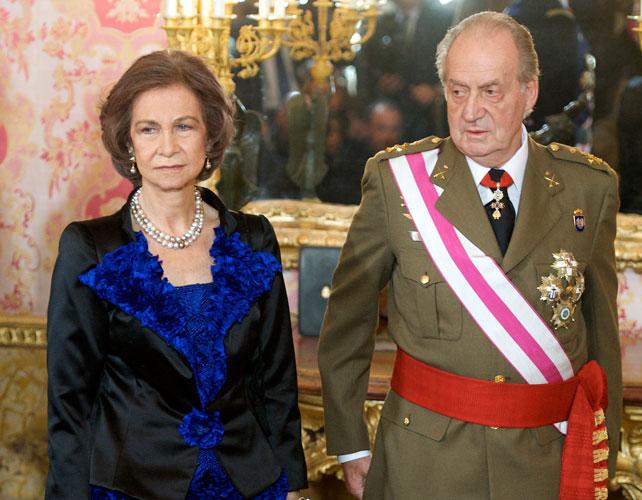 Rey Juan Carlos y Reina Sofía para articulo