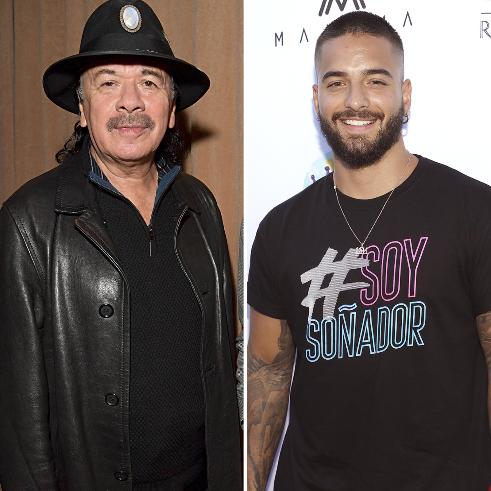 Carlos Santana y Maluma