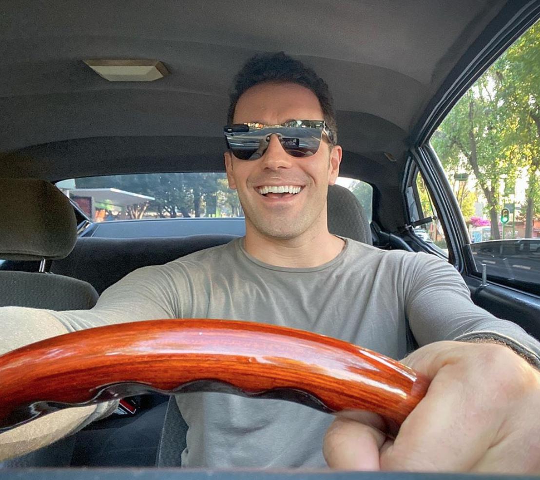 Marcus d'Ornellas en su carro