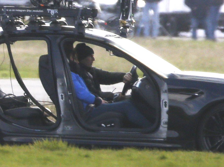 Tom Cruise films the opening scenes for a new 'Mission Impossible' after filming was halted in Italy due to the Coronavirus epidemic. Tom brings the action back to the old 'Top Gear' test track at Dunsfold in Surrey, England.
