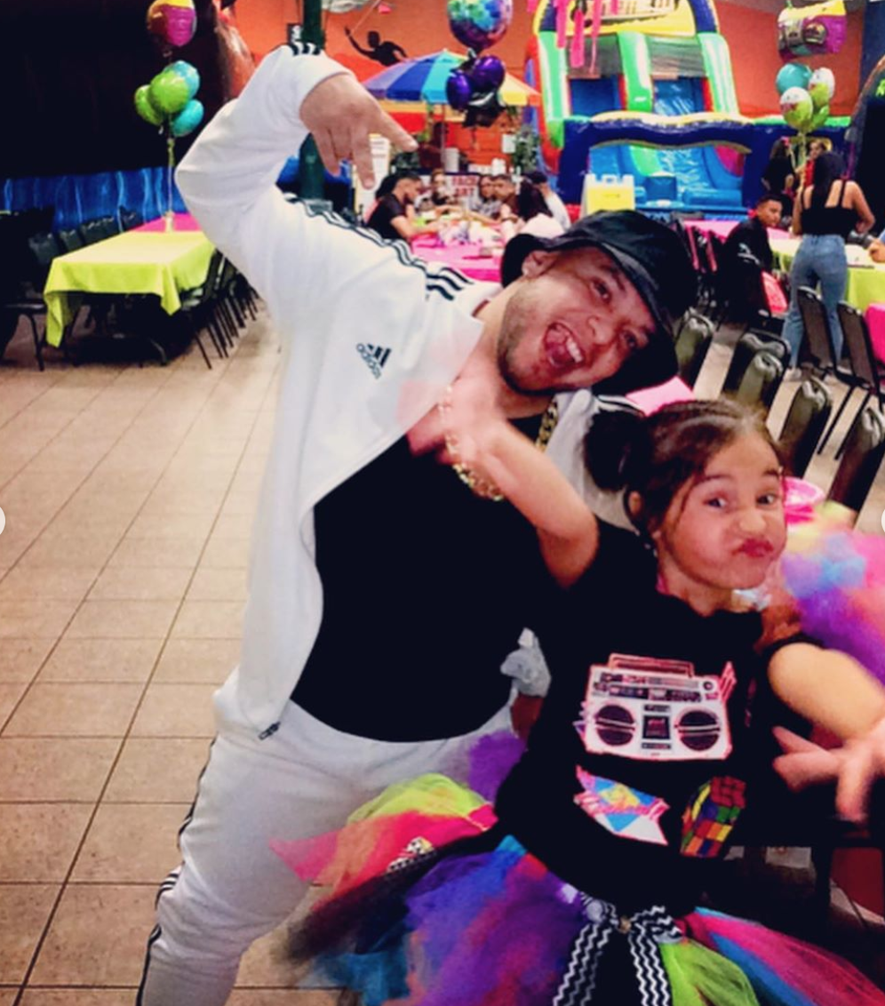 Lorenzo Méndez con su hija