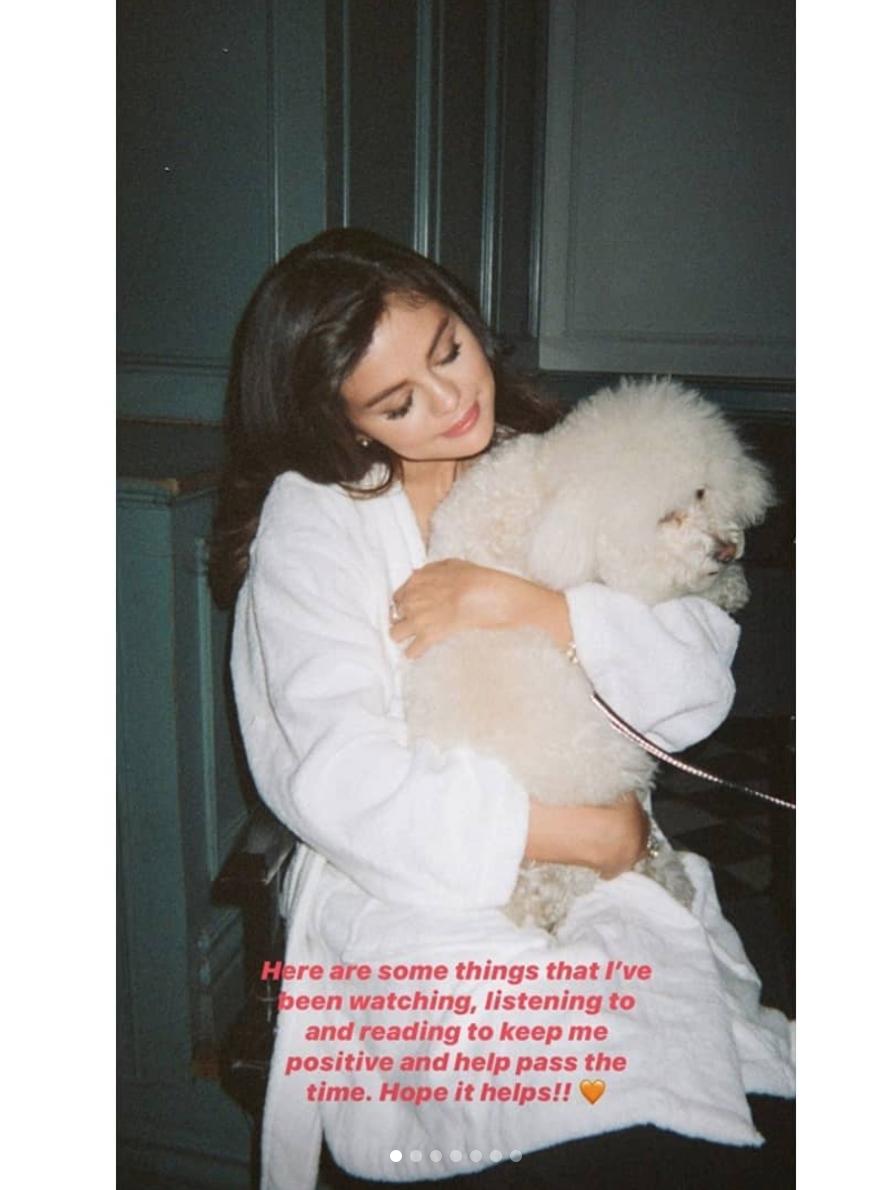 Selena Gomez con su perrito