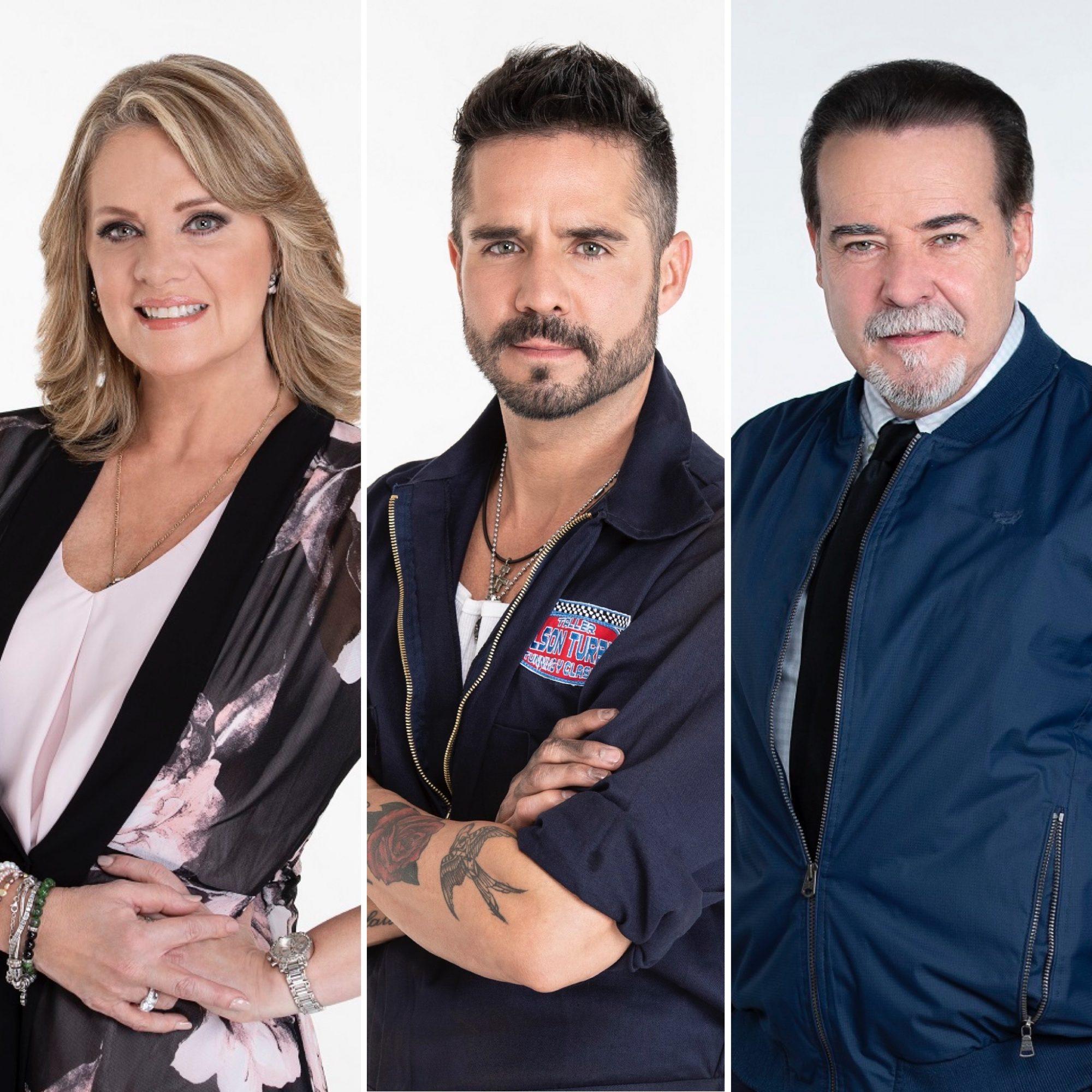 Erika Buenfil, Jose Ron y Cesar Evora