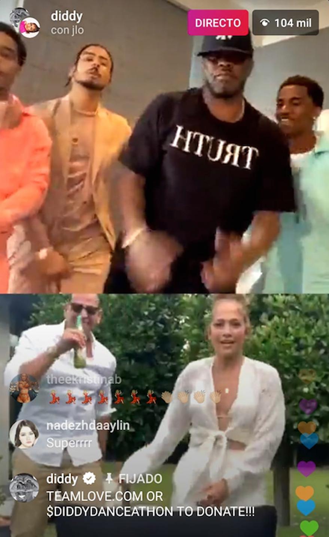Diddy Jennifer Lopez Alex Rodriguez dancing