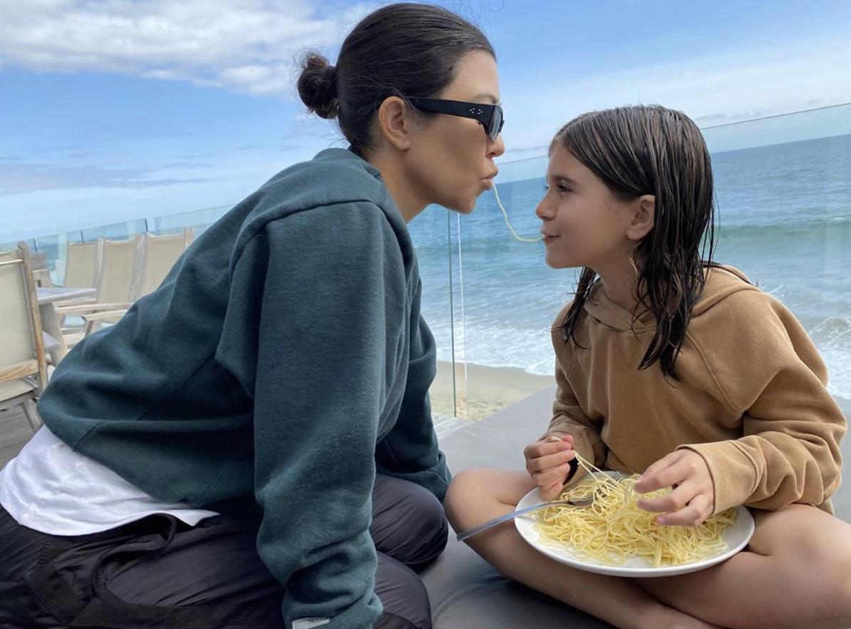 Kourtney Kardashian con su hija