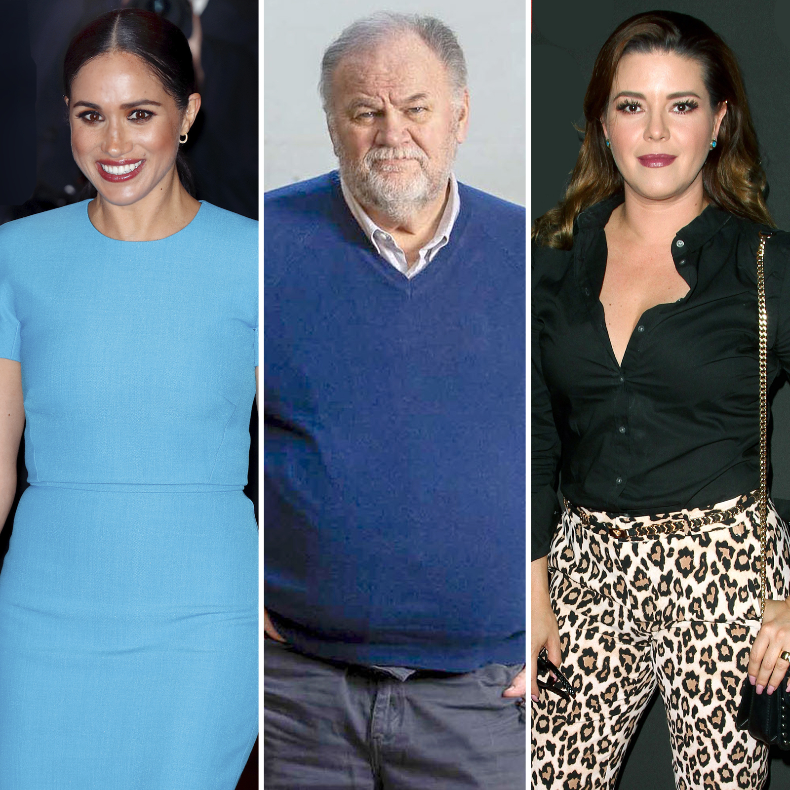 Meghan Markle, Thomas Markle y Alicia Machado