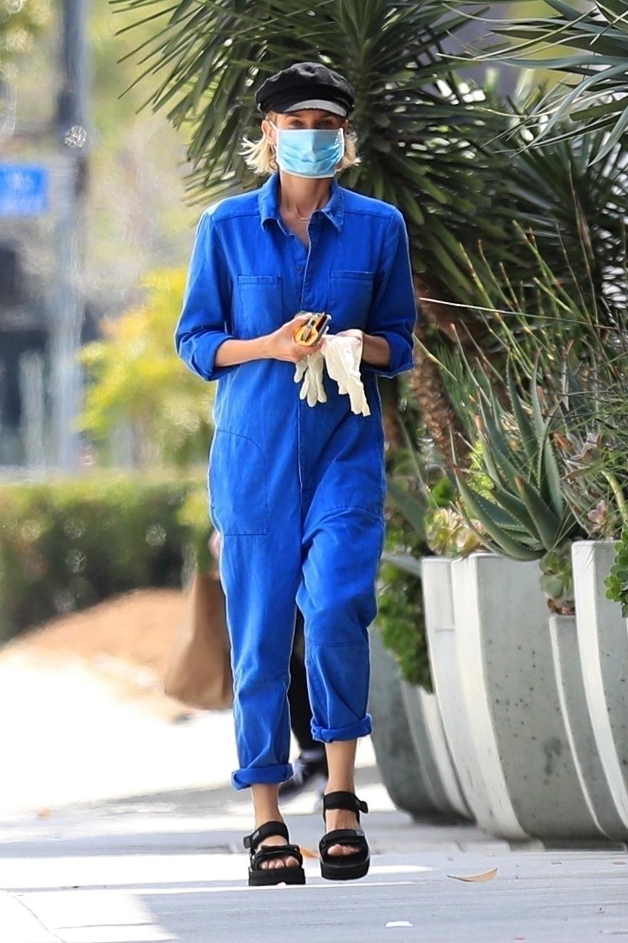 Diane Kruger, look, cuarentena, Los angeles