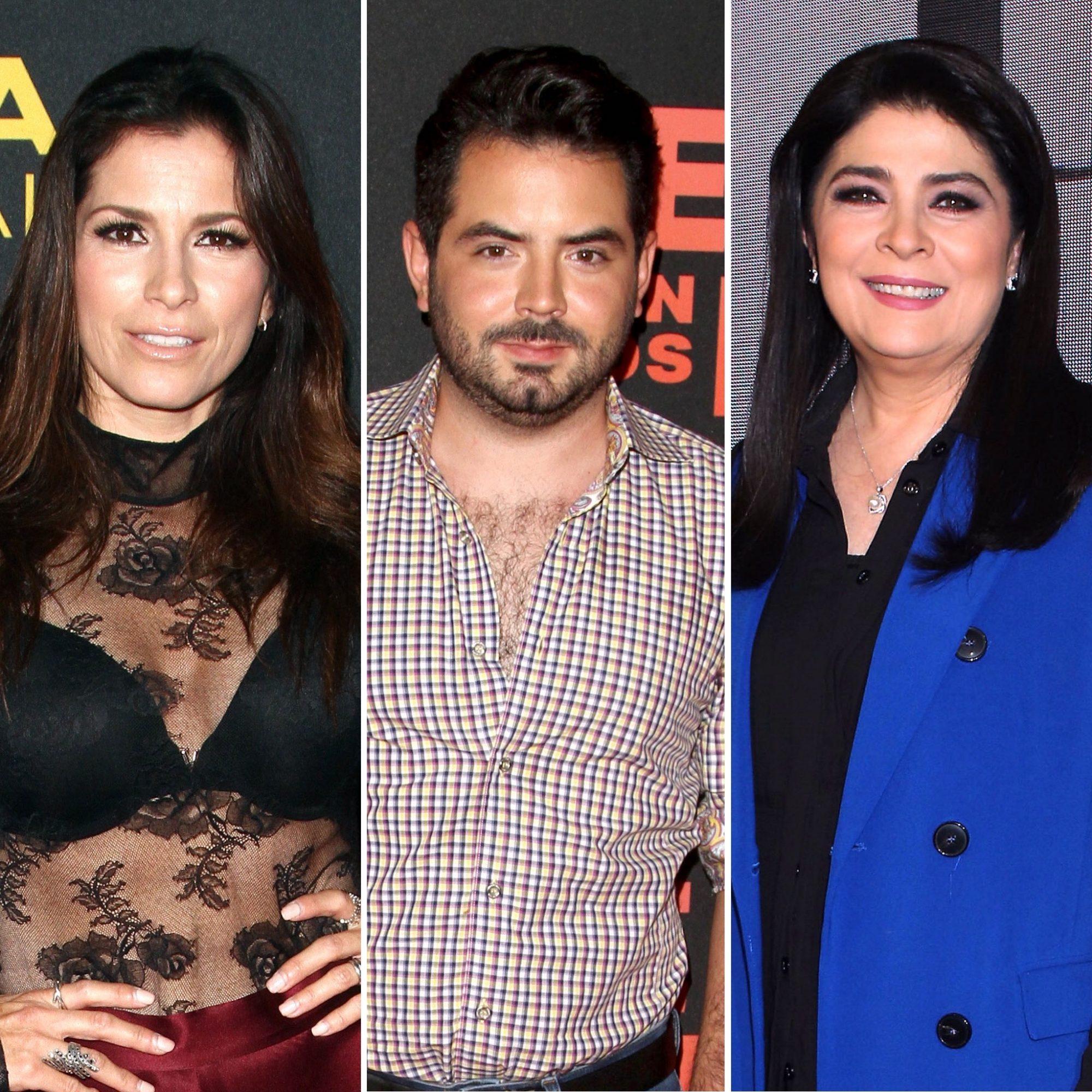 Alessandra Rosaldo, José Eduardo Derbez y Victoria Ruffo