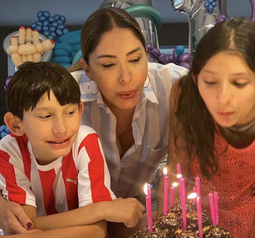 Gibelli es madre de dos nenes: Aranza y Sebastián.
