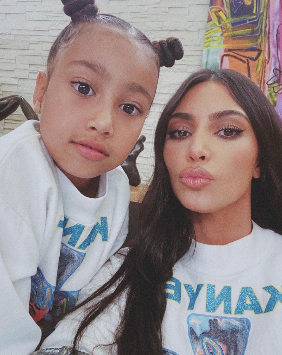 kim kardashian con hija north west cuarentena