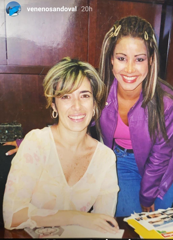 Carolina Sandoval y Luz María Doria