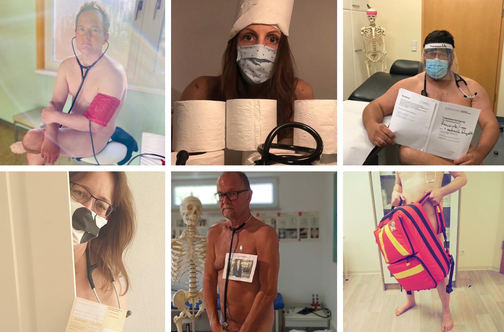 Médicos alemanes se desnudan