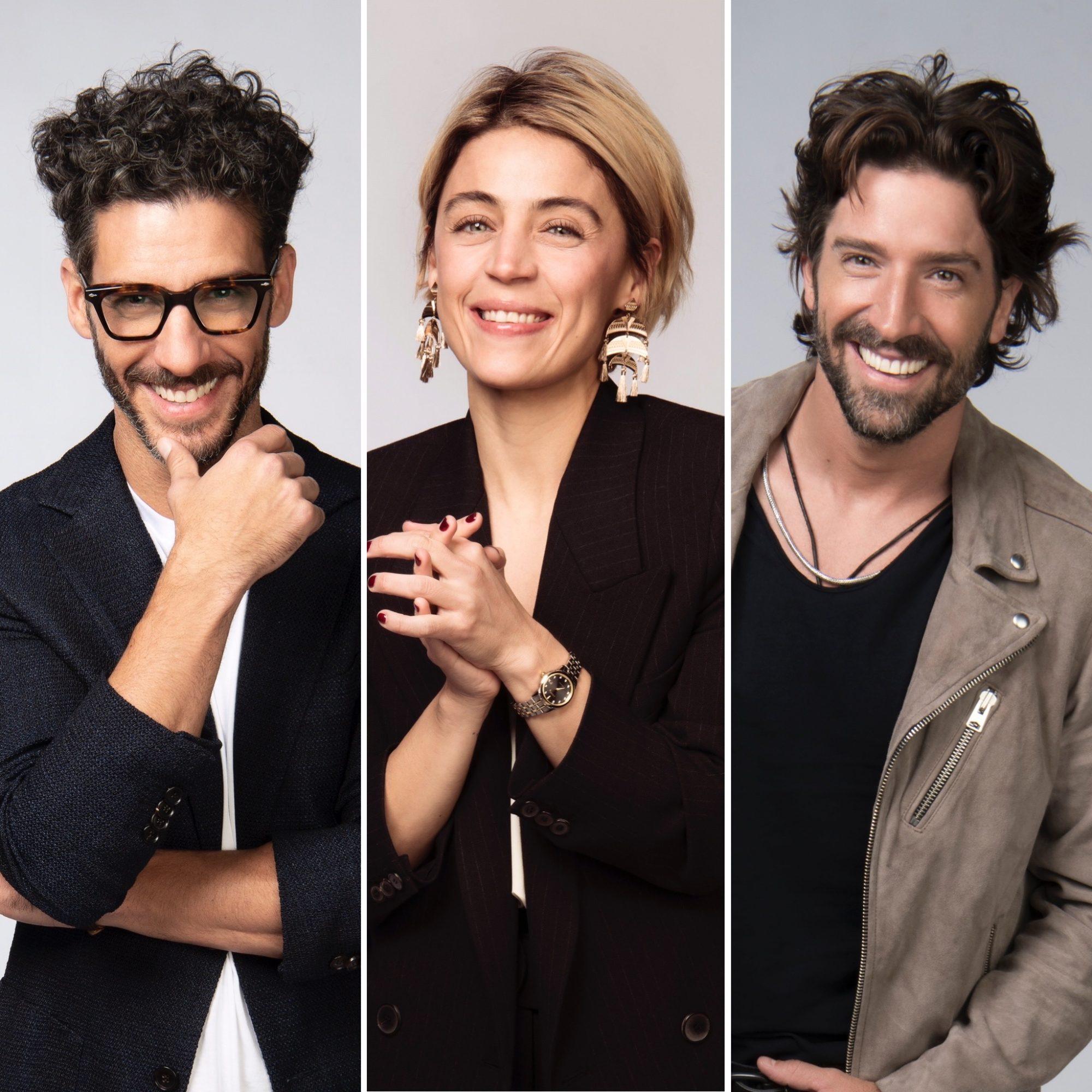 Erick Elías, Ilse Salas y David Chocarro