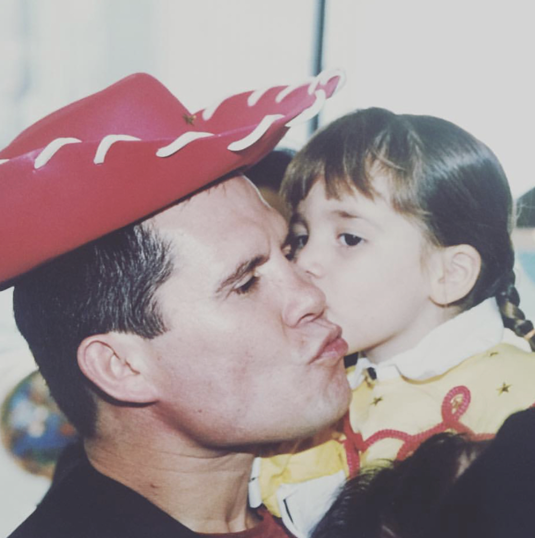 Julio César Chávez e hija