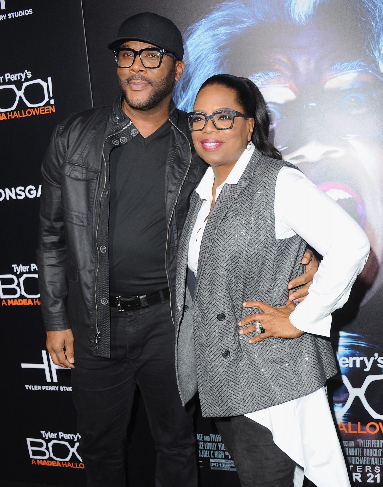 Tyler Perry y Oprah Winfrey
