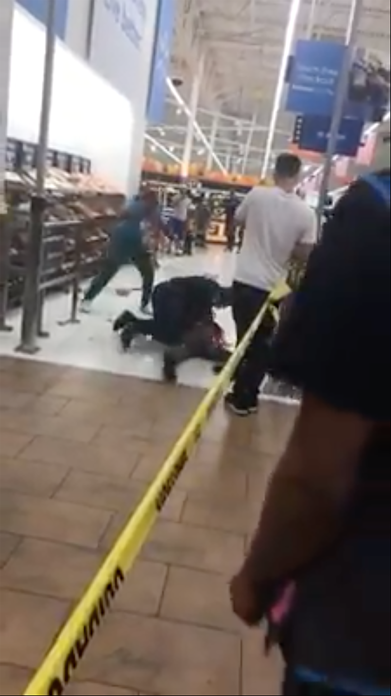 Walmart woman body slammed