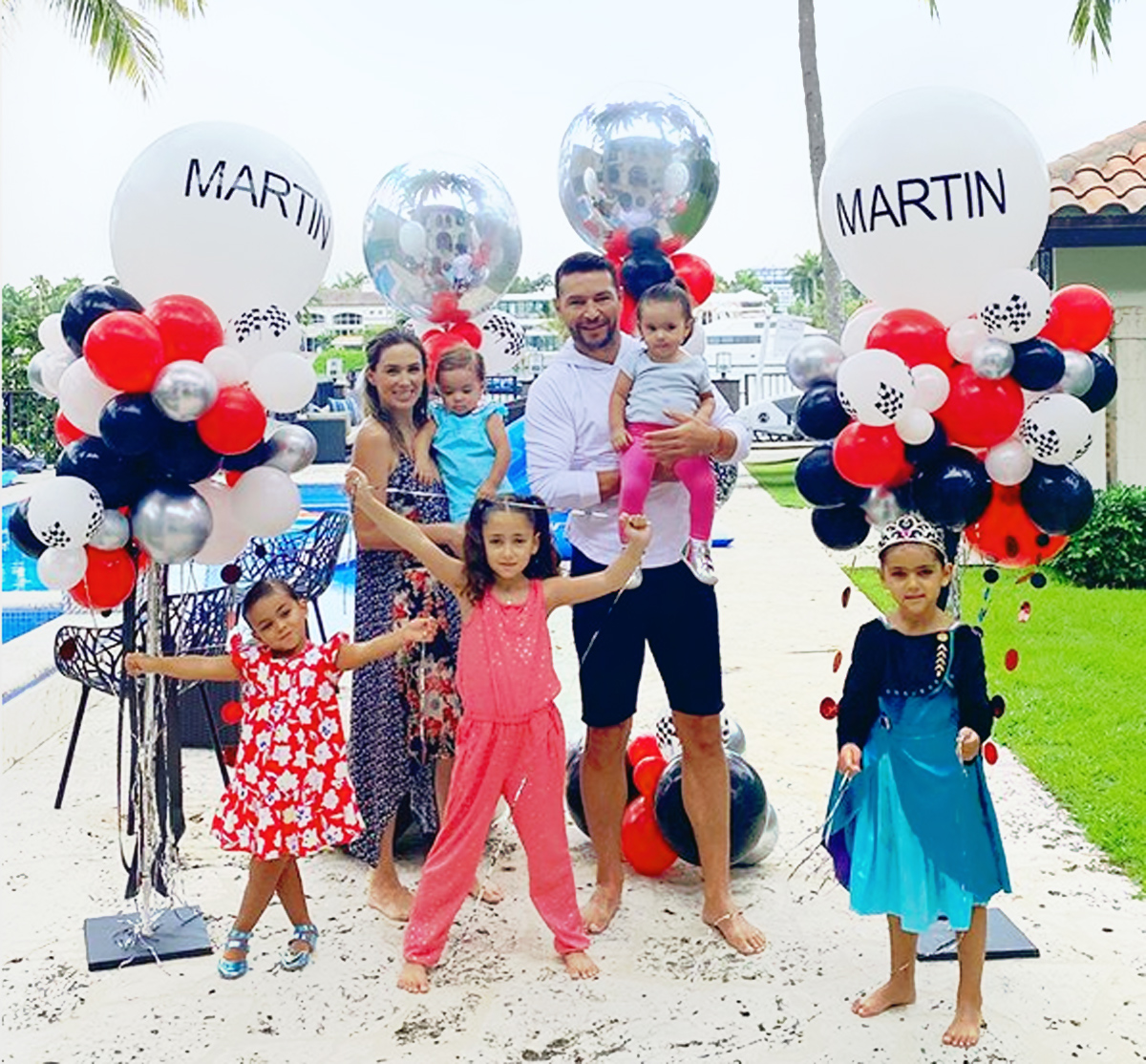 Jacky Bracamontes familia cumple Martín Fuentes