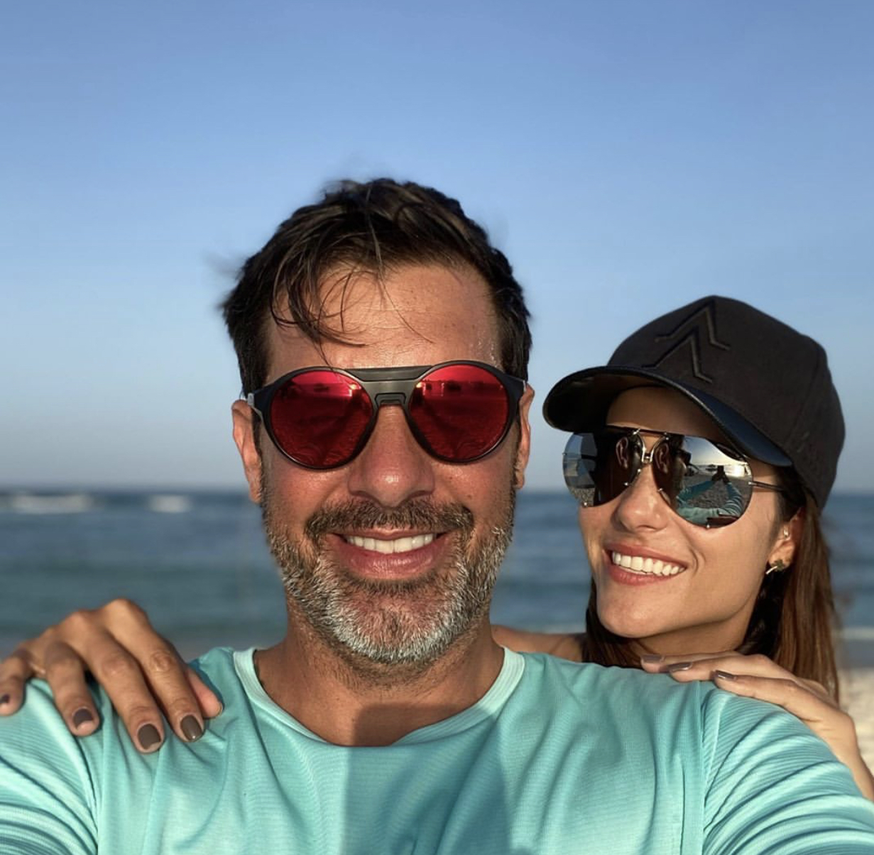 Cristóbal Lander y su esposa