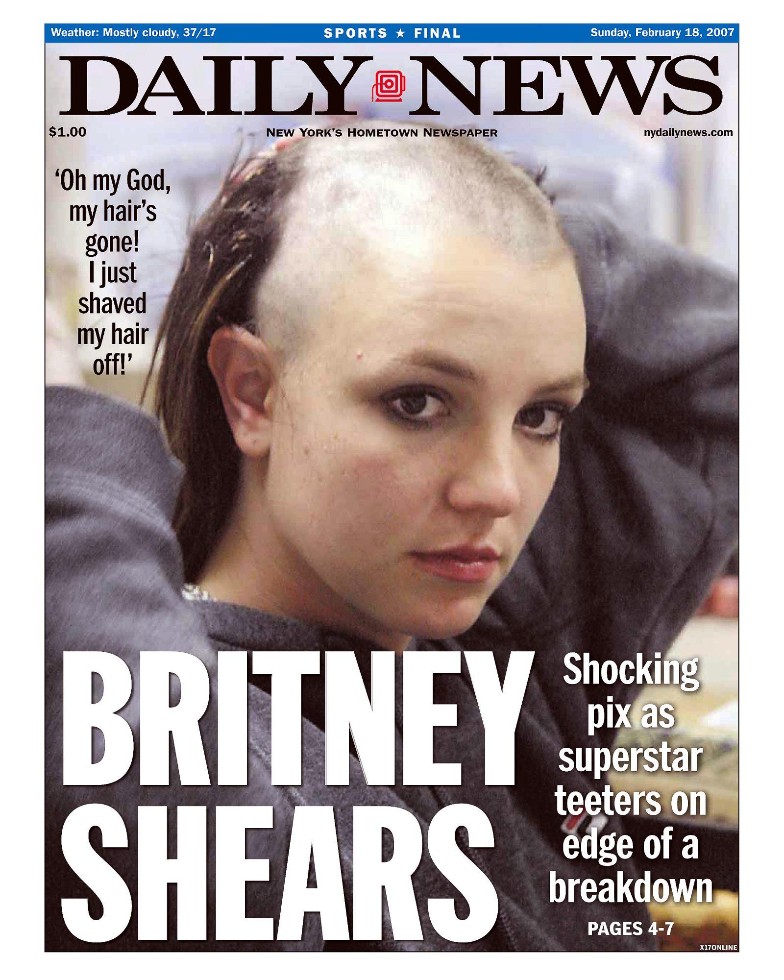 Britney Spears se rapa cabello