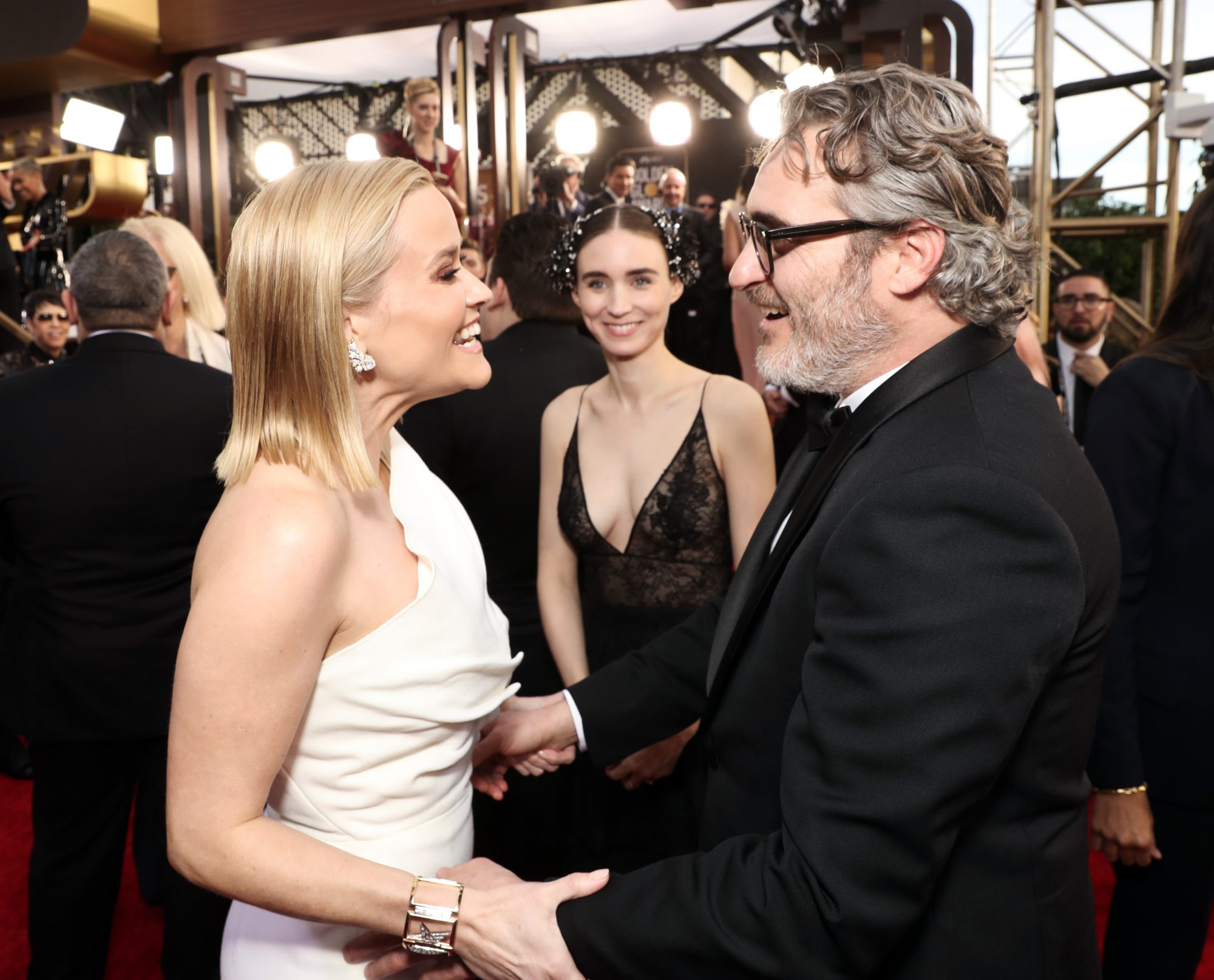 Reese Witherspoon, Rooney Mara, and Joaquin Phoenix
