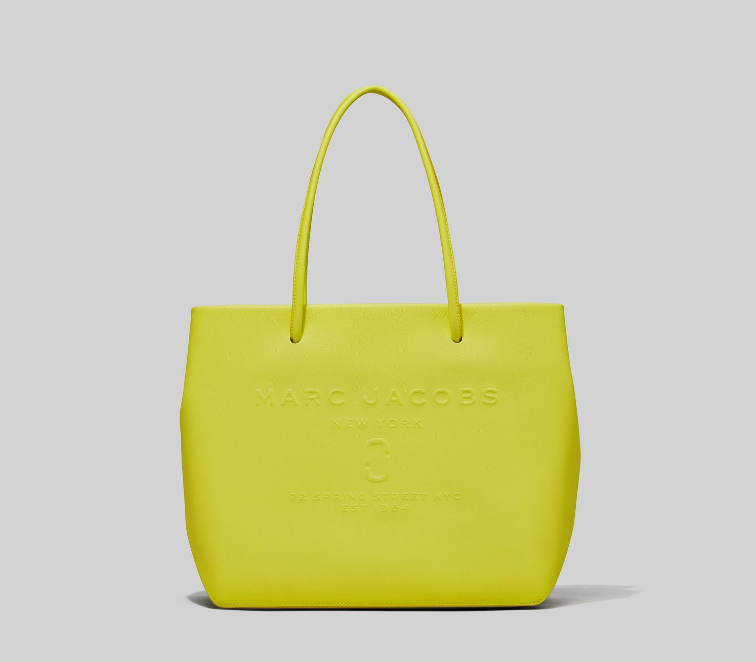 neon bag from Marc Jacobs