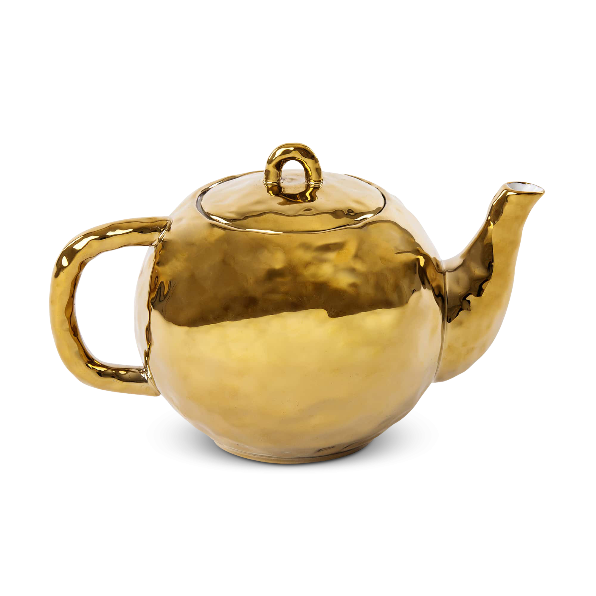 ¿Amante del té? Haz su rutina mañanera más especial con esta tetera dorada que parece salida de Alicia en el país de las maravillas. Tetera dorada, de Seletti. $94. shop.gelatto.com