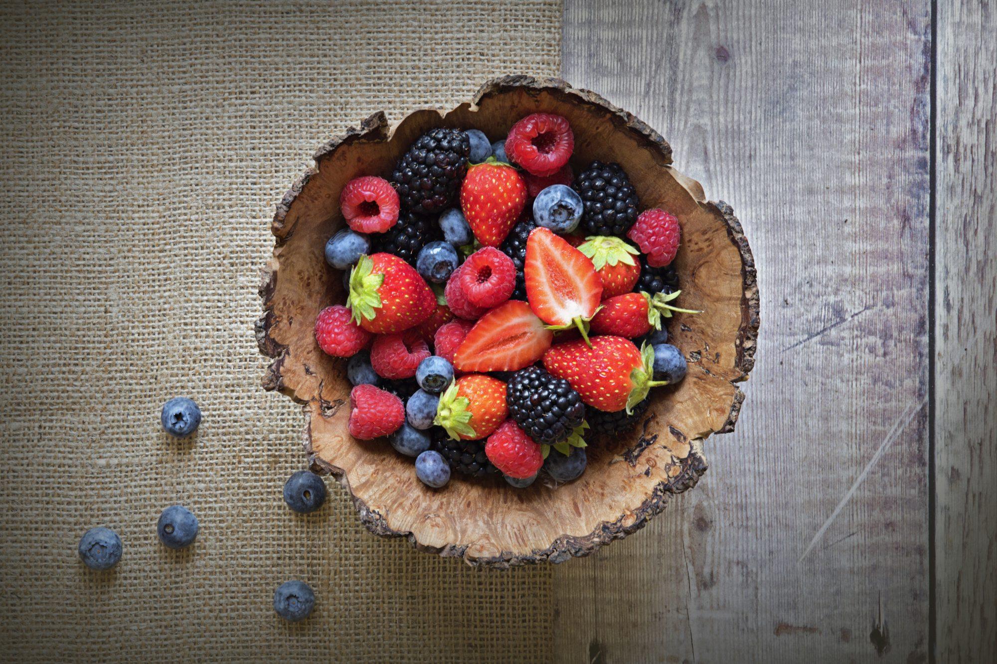 bayas, fruta del bosque, piel, belleza