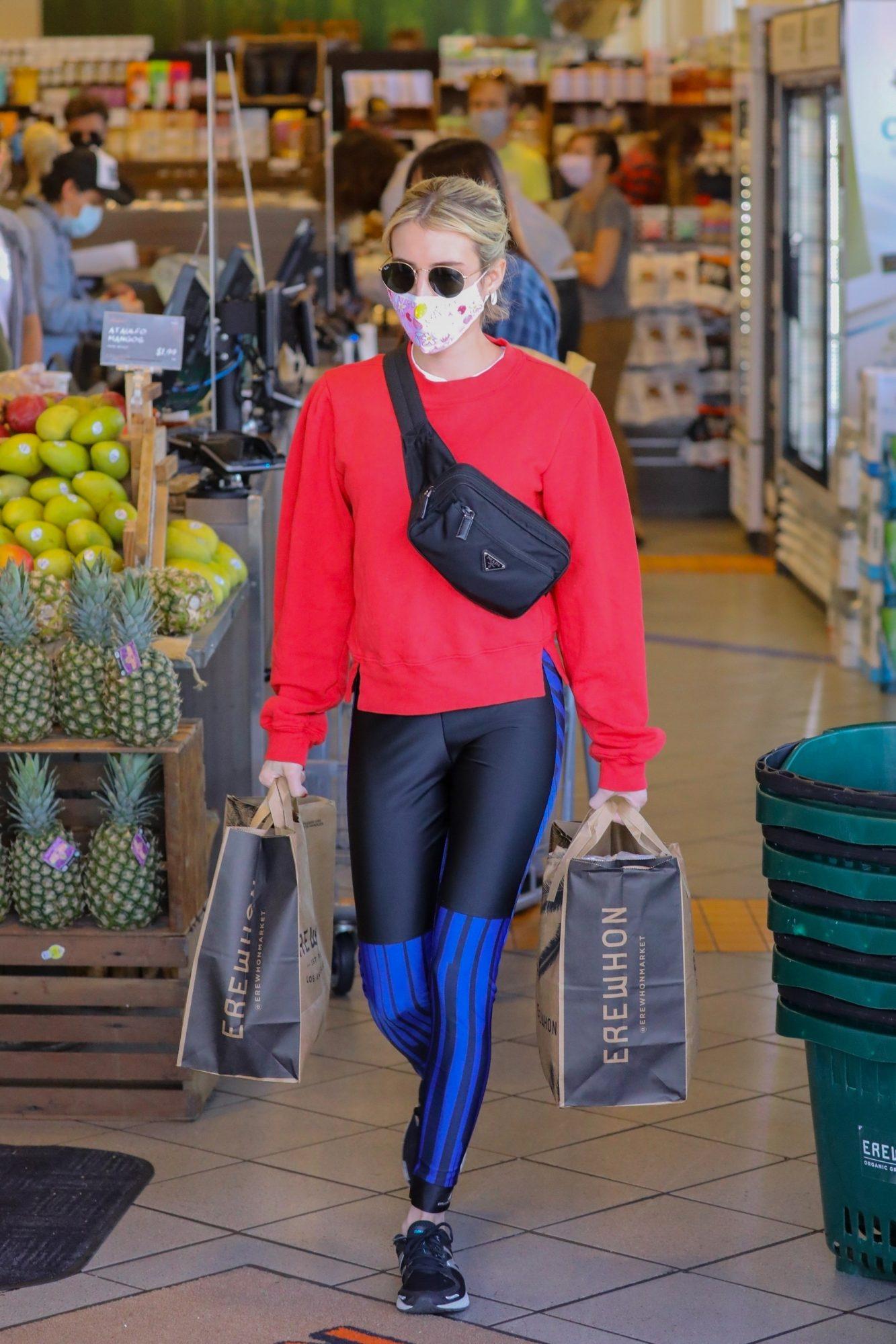 Emma Roberts, look, cuarentena